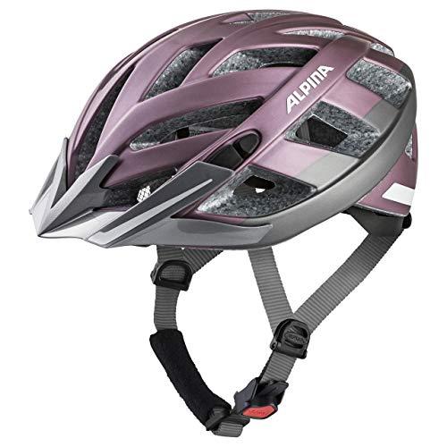 ALPINA PANOMA 2.0 CITY Fahrradhelm, Unisex– Erwachsene, rose-titanium matt reflective, 52-57