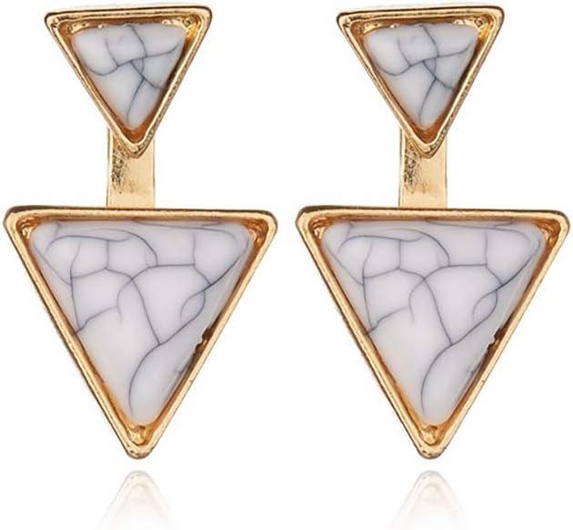 Triangle Howlite Earrings T R I A D  II Construct Series
