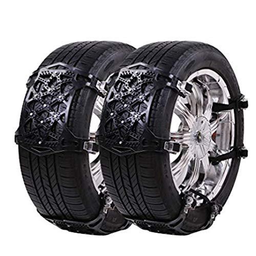 XINLEE Universal Schneeketten Einfach zu montieren Reifen Schneekette für Jede Reifenbreite 165-285mm,6-teiliges Set, [2018 Upgrade] (Schwarz)