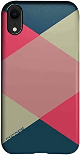 Macmerise IPCIXRPMI0438 Criss Cross Tealpink - Pro Case for iPhone XR - Multicolor (Pack of1)