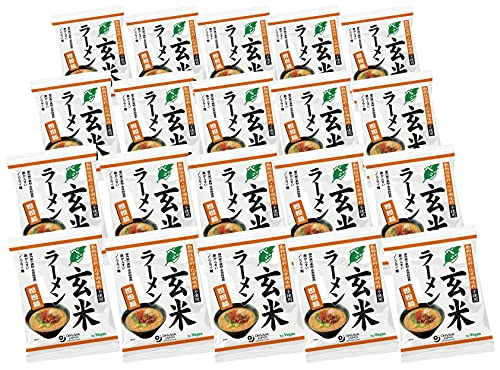 無添加 ベジ玄米ラーメン 担担麺 132g×20袋 ★宅配便★植物性素材でつくったこだわりのラーメン 。国産小麦粉・玄米粉を使った無かんすいのノンフライ乾麺 。ごまの旨みと深いコク、マイルドな辛みが人気です。
