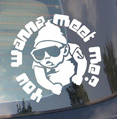 Baby On Board vous Wanna Meet Me ? voiture Drift pare-chocs fenêtre Funny en vinyle Van pour ordinateur portable Love Heart Decor Home Live Kids Funny autocollant mural en stickers pour moto