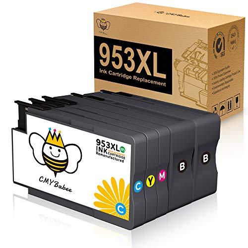 CMYBabee 953XL Cartuchos de Tinta Compatibles para HP 953XL Reemplazo para HP OfficeJet Pro 8720 7720 8710 7730 8715 7740 8718 8210 8725 8218 8728 8740 8730 (2 Negro /1 Amarillo /1 Magenta /1 Cian)