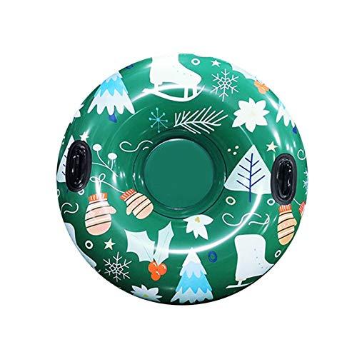 HappyL Sled Winter Sled Ski Ring con Mango Anillo De Esquí Inflable Tubo De Nieve Ski Invierno Tamaño Engrosado Anillo (Color : Green)
