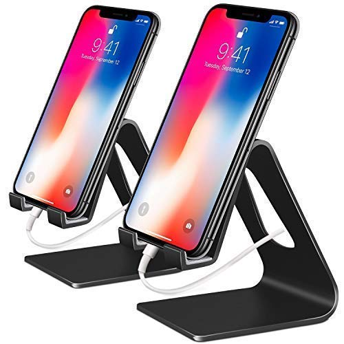 Supporto Telefono, [2 pack] Compatibile Phone Universale Supporto Scrivania Desktop Dock Compatibile Phone XR Xs Max X 8 7 6s, Huawei,Samsung Tablet, Andriod, Accessori, Scrivania, Altri Smartphone