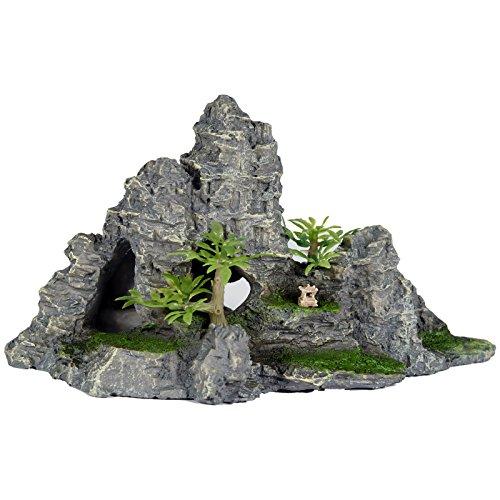 Pet Ting Jungle Mountain Aquatic Ornament - Aquarium Decoration - Vivarium Decoration