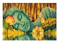 大人のジグソーパズル ジグソーパズルの蓮の眠っている大人のパズルDiy木製のパズルモダンな家の装飾ユニークなギフト300/500/1000/1500ピース D-1115 (Color : Lotus Sleeping Buddha, Size : 500P)