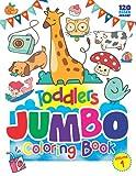 Libro para colorear Jumbo para niños de 1 a 4 años: grande, simple,...