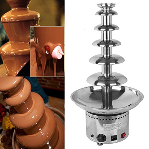 Ridgeyard Chocolate Fountain Commercial 6 Tier Chocolate Fountain 32.3 inch Chocolate Fountain Machine Stainless Steel Chocolate Fondue Fountain for Xmas Party Wedding