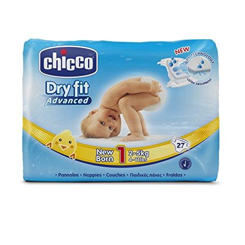 Chicco Dry Fit Advanced Set von 27Windeln, Größe 1Für Neugeborene