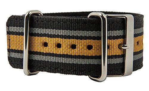 Casio G-Shock Correa de reloj textil con base en negro, gris y...