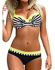 Tuopuda Bikini Push Up Mujer Bikinis con Relleno Trajes de B