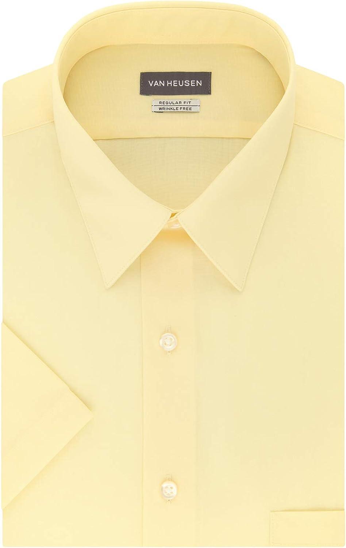 Mens Vintage Shirts – Casual, Dress, T-shirts, Polos Van Heusen Mens Short Sleeve Dress Shirt Regular Fit Poplin Solid  AT vintagedancer.com