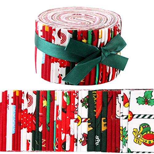 36 Patterns Jelly Roll Fabric, Roll Up Cotton Fabric Quilting Strips, Jelly Roll Fabric Strips for Quilting, Patchwork Craft Cotton Quilting Fabric, Fabric Jelly Rolls with Different Patterns