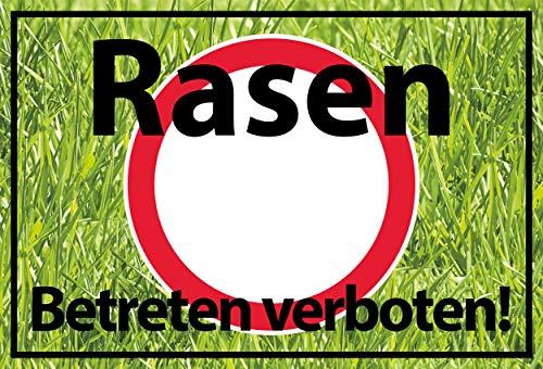 SCHILDER HIMMEL Rasen betreten verboten Schild 30x21cm Alu-Verbund mit Schrauben, Nr 542 in verschiedenen Größen (A0 bis A5) und Materialien