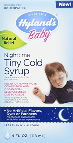 Baby Cough Syrup, Nighttime Infant Cough Medicine, Hyland's Natural Relief of Runny Nose, Congestion and Occasional Sleeplessness Due to Colds, 4 Ounces