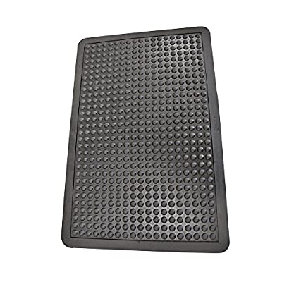 "Rubber-Cal ""Bubble-Top"" Anti-Fatigue Matting - 5/8"" x 3ft x 4ft - Black Rubber Mats"