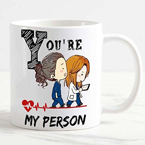 csm Informatica Tazza Mug Personalizzata Grey's Anatomy You Are My Person Cuore Idea Regalo per Amiche