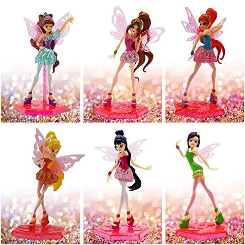 Winx Club 6 Puppen Miniaturen Set, perfekt als Mitgebsel für Kindergeburtstag, Spielzeug für Mädchen, tolle Gastgeschenke und Mitbringsel