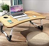 Lapdesk - Tavolino da letto per PC portatile, pieghevole, da lettura, da scrivania o da co...