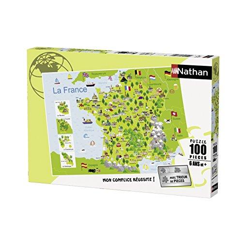 Nathan - 86732 - Puzzle - Carte De France - 100 Pièces