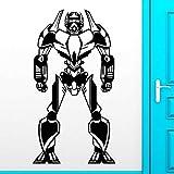 HGFDHG Robot Pegatinas de Pared calcomanías de Vinilo para Puertas y Ventanas niños niños Dormitorio bebé guardería área de Juegos Interior Art Deco niños Ducha Regalos