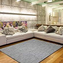 Alfombra Vinílica Trenzada Salón de Terminación festón Fino Color Beige Jaspeado de Tamaño 170x240 (TWIST-039)