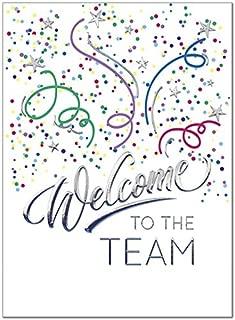 25 Employee Welcome Cards - Fun Confetti Design - 26 White Envelopes - FSC Mix