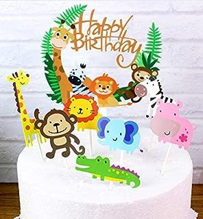 B-FUL 29 pcs Jungle Marine Farm Animal Cake Decorations Cupcake Topper For Wedding,Baby Show,Kid Birthday Party