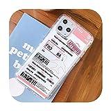 Nuestra Dama, Funda de Tarjeta de embarque Divertida para iPhone X XS MAX XR 11 11Pro 7 8 Plus, Bonito Billete de avión, Caramelos de Poliuretano termoplástico Claro
