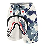 GIPHOJO Bape Funny Men's Beach Shorts with Pocket...