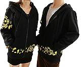 GK-O Trafalgar Law Coat Hoodie Jacket Cosplay Costume (Asian Size M) Black