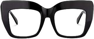 Sponsored Ad - Zeelool Stylish Thick Cat Eye Blue Light Blocking Glasses for Women Charmaine ZOA01901