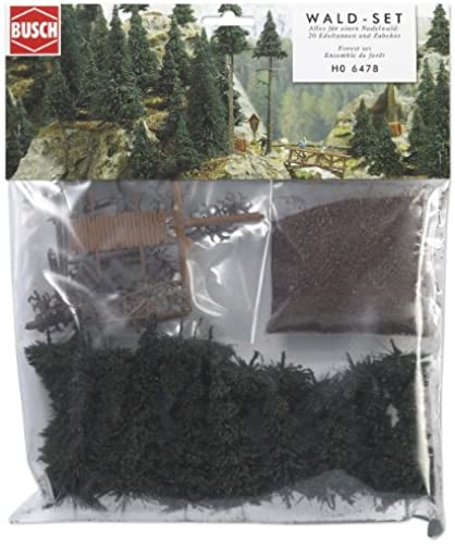 Busch Ho Scale Forest Set