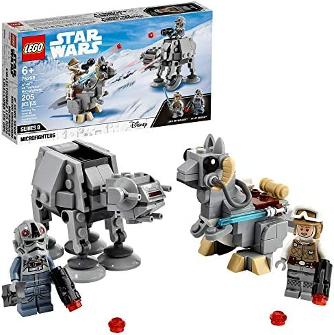 LEGO Star Wars at at vs Tauntaun Microfighters 75298 Building Kit Awesome Buildable Toy Playset product image