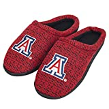 FOCO NCAA Arizona Wildcats Mens Poly Knit Cup Sole SlipperPoly Knit Cup Sole Slipper, Team Color, XL (13-14)
