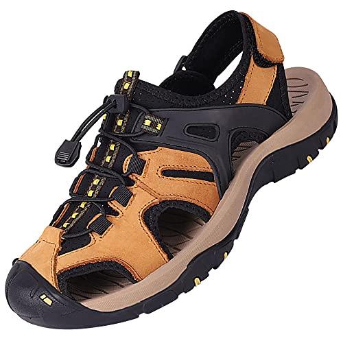 Sandalia Deportiva Para Hombre Sandalias De Verano,Unisex Zapatillas De Playa Sandalias Piscina Zapatos De JardíN Respirable Casual Pantuflas,Yellow_42