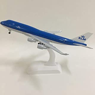 NKJWHB 20cm Plane Model Airplane Model KLM Royal Dutch Boeing 747 Aircraft Model 1:300 Diecast Metal Airplanes Plane Toys