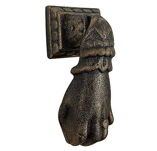 zeitzone Türklopfer Hand Faust Nostalgie Klassiker Gusseisen Bronze-Optik Antik-Stil