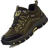 Brfash Chaussures de Randonnée pour Hommes en Plein Air Imperméable Respirant Marche Trekking Sneakers pour Hommes,42 EU,Armée Verte