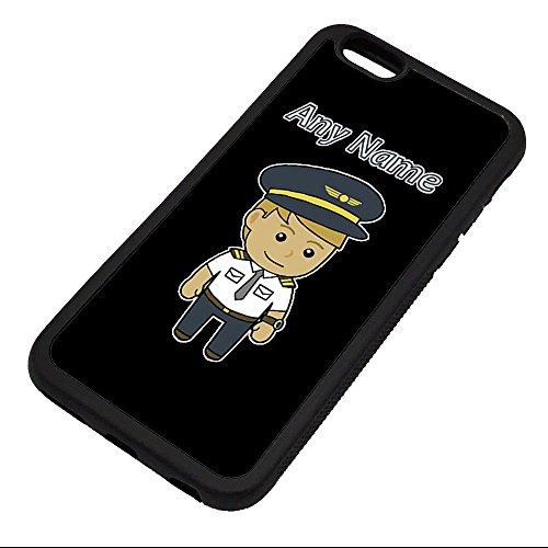 Unigift, custodia per iPhone 6 / 6s con nome e messaggio di identità, motivo: pilota/aviatore