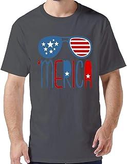 ZYXcustom Custom Retro red, White and Blue T-Shirt for Men