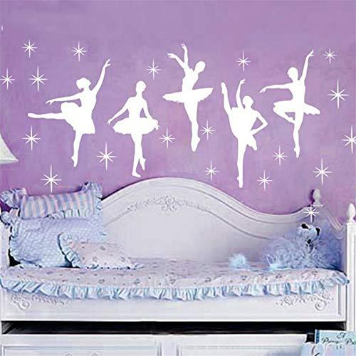 pegatina de pared etiqueta de la pared Baile de ballet Bailarinas Estrellas...