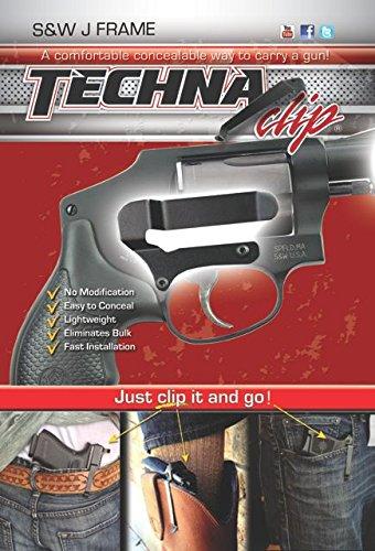 Techna Clip Smith & Wesson Clip de ceinture pour pistolet Petit cadre en J Côté droit