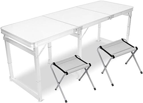 suministro directo de los fabricantes Folding table LVZAIXI LVZAIXI LVZAIXI Resortes Plegables portátil Que acampa Mesa de Fiesta (Color   blanco)  descuento de bajo precio