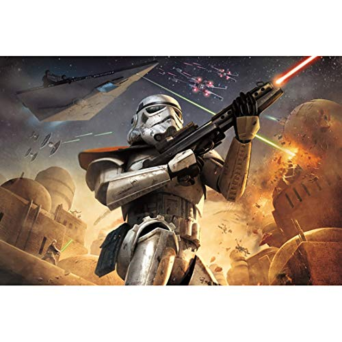 HD Wooden Jigsaw Puzzle 300/500/1000 Pieces, Star Wars, Gift Toys for Adults and Children (Color : F, Size : 1000)