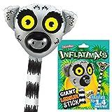 Inflatimals Animales inflables - Lémur de Deluxebase. Juguete Inflable Gigante con diseño de Animal. Excelente Regalo para niños o como artículo Decorativo en Fiestas Infantiles