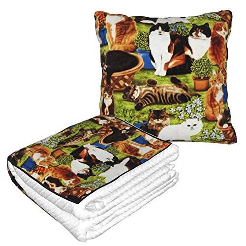 XCNGG Colección de Franela para Mascotas de Gato de Campo, Suave y acogedora, Cama o sofá, Mantas de Almohada