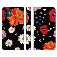 Ruuu ベルトなし iPhone 11 Pro 手帳型 スマートフォン スマホ ケース カバー レトロ 花柄 レディース おしゃれ かわいい 個性的 大人かわいい 大人可愛い きれい 和柄 カラフル