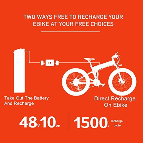 Faltbares E-Fatbike Elektrofahrrad XF690 500W kaufen  Bild 1*
